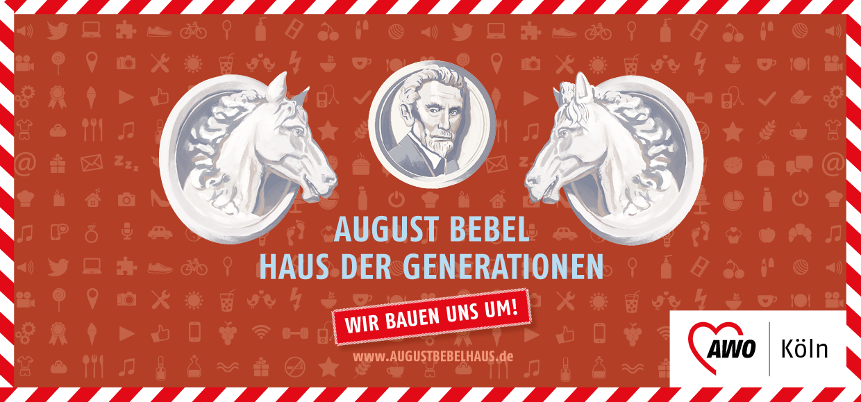 Aktionskarte zu den neuen Workshops im August Bebel Haus der Generationen